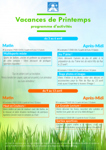 Programme Printemps